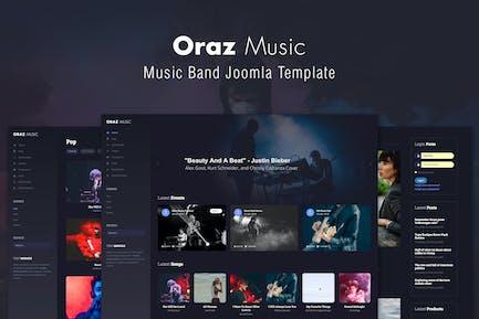 Oraz - Music Band Joomla Template