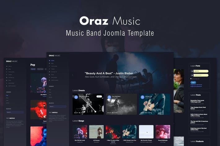 Thumbnail for Oraz - Music Band Joomla Template