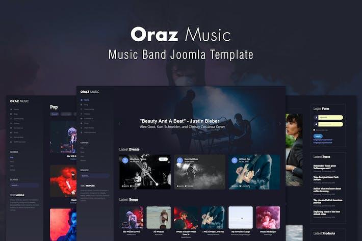 Thumbnail for Oraz - Шаблон музыкальной группы Joomla