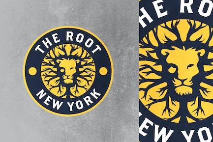 Root Lion Emblem Mascot Logo
