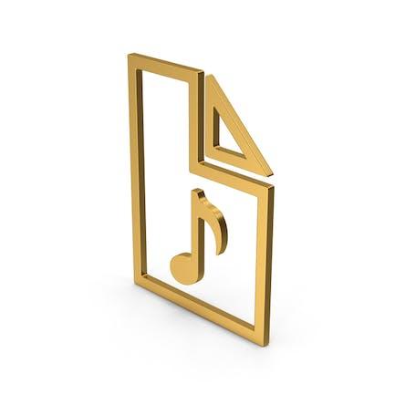 Symbol Audio File Gold