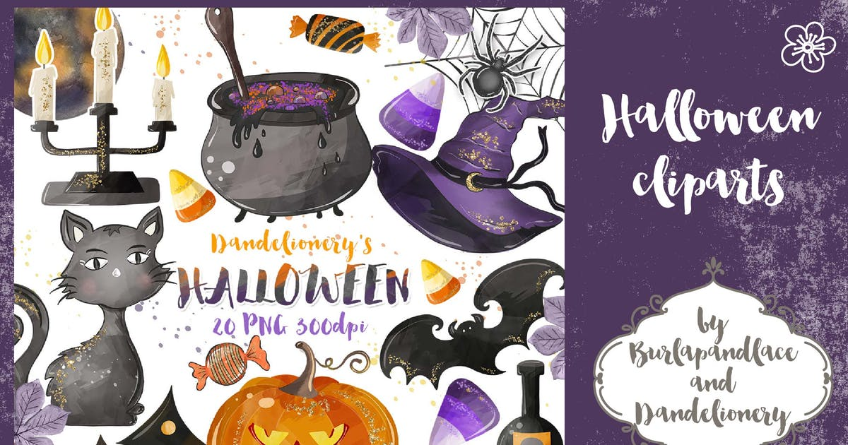 Download Halloween cliparts by burlapandlace