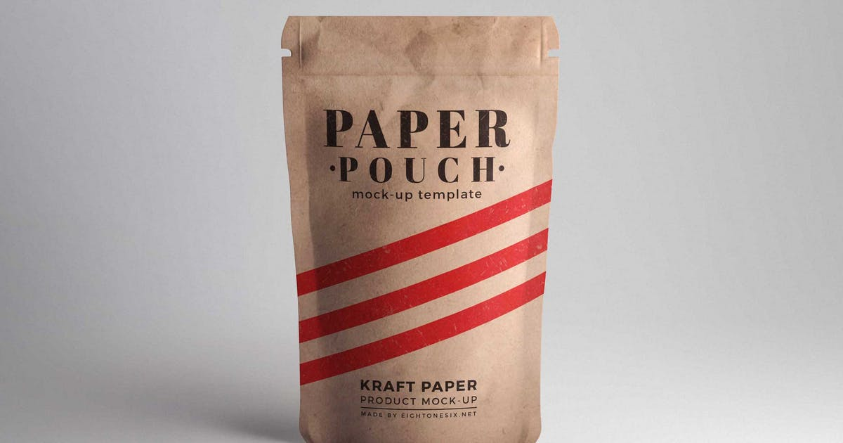 Download Paper Pouch Product Mock-Up by EightonesixStudios