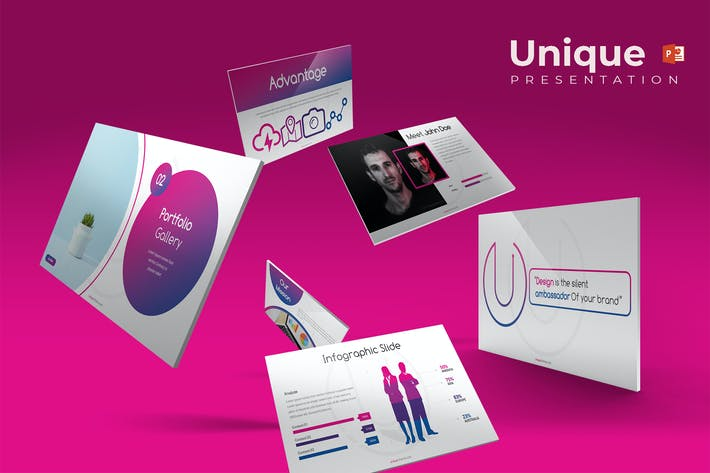 Thumbnail for Unique - Powerpoint Template