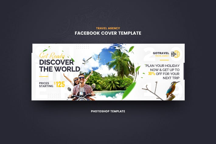 Cover Image For GoTravel Facebook Cover Template