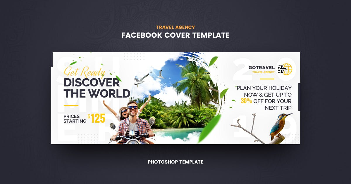 Download GoTravel Facebook Cover Template by youwes