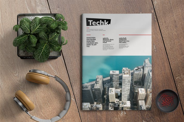 Thumbnail for Techk | Magazine Template