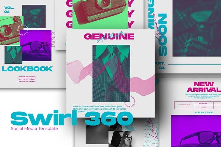 Thumbnail for SWIRL 360 Social Media Template