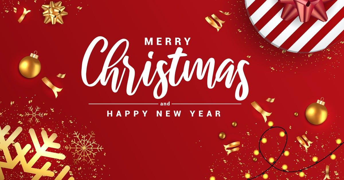 Download Merry Christmas and Happy New Year banners by graphics4u