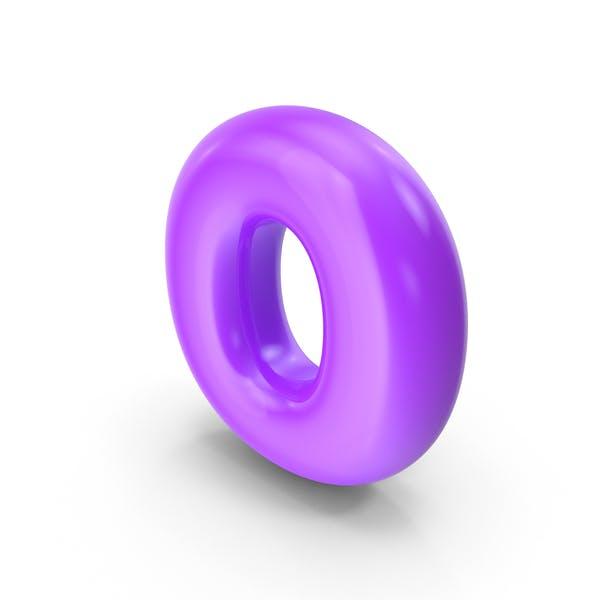 Purple Toon Balloon Letter O