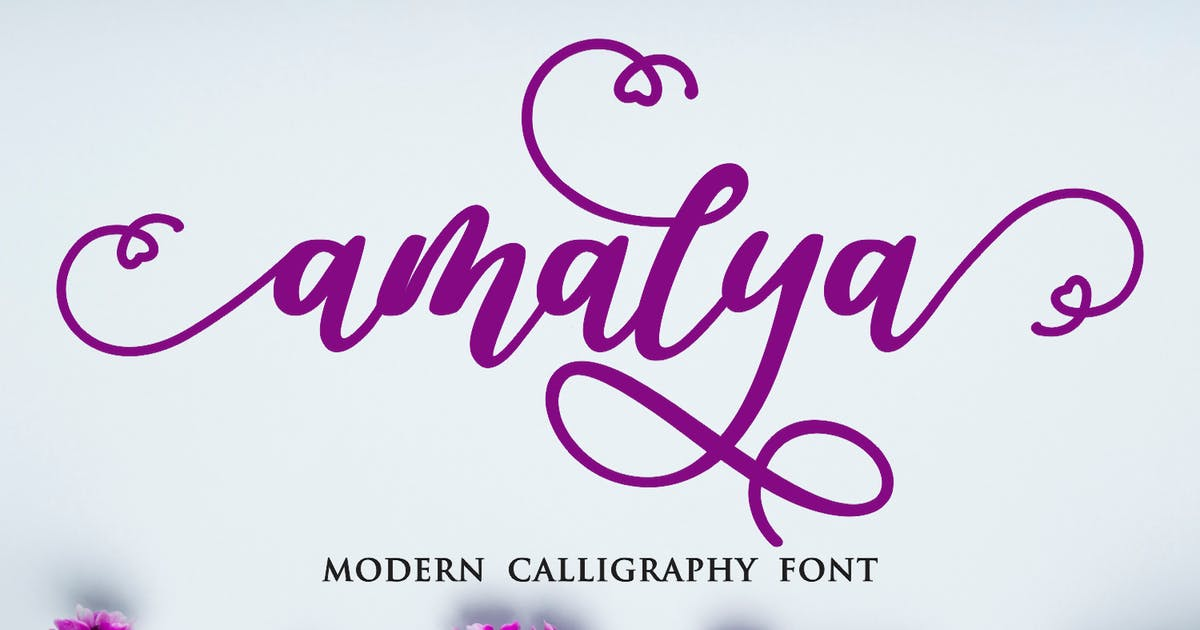Download Amalya - Modern Callygraphy Font by CocoTemplates