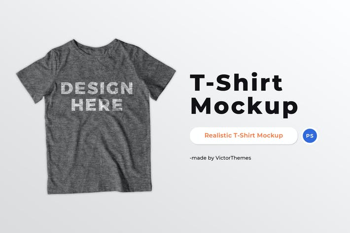 Thumbnail for Grey T-Shirt Mockup