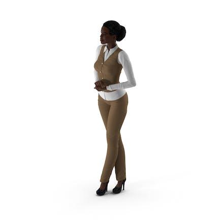 Dunkle Haut Business-Stil Frau Standing Pose