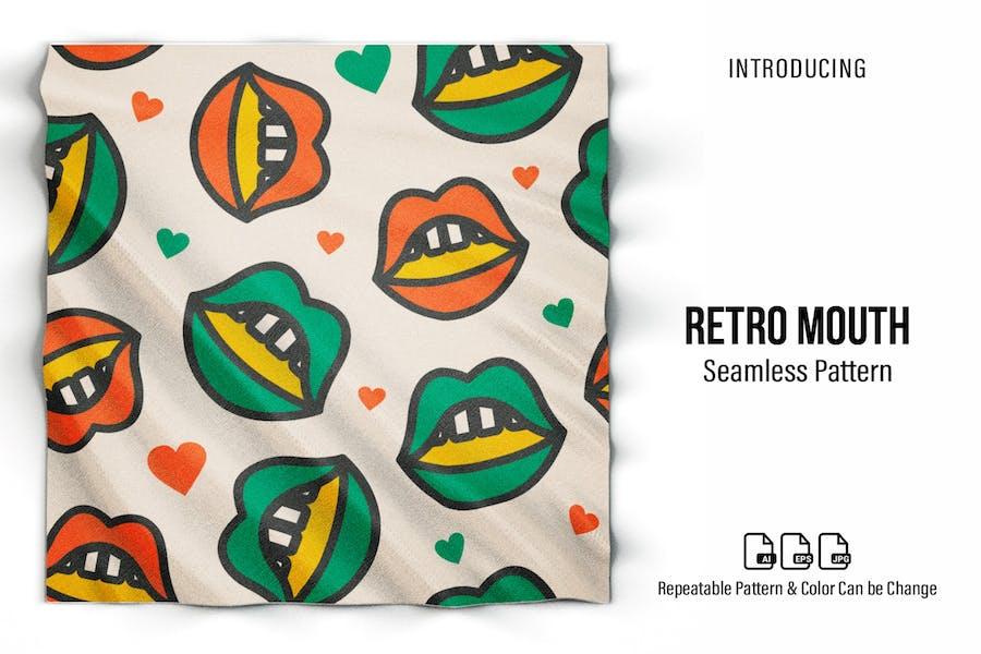 Retro-Mund-Muster