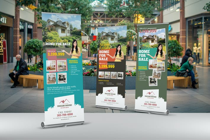 Cover Image For Real Estate Roll-Up Banner