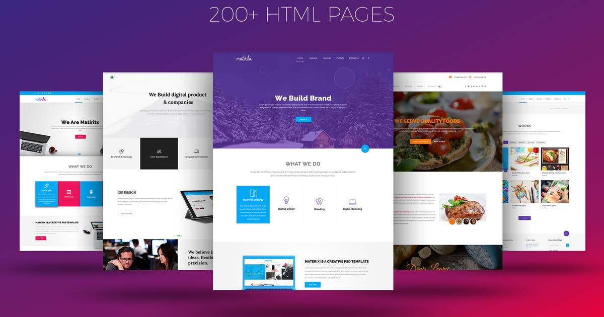 Download Matrox - Material Design  HTML Template by TrendyTheme