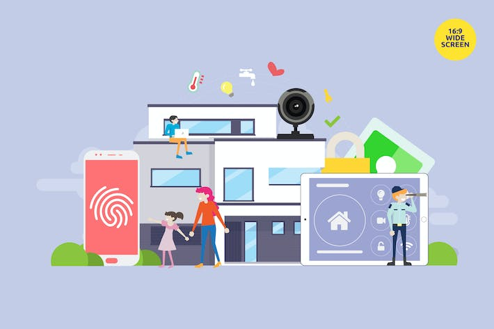 Thumbnail for Smart Home Technology Vector Concept 4