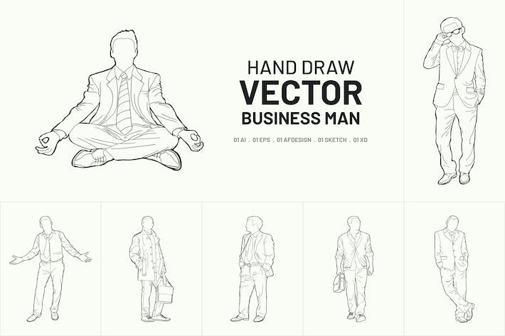 Thumbnail for Hand drawn vector business man package