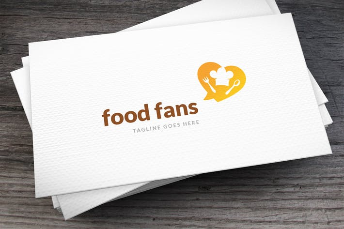 Cover Image For Food Fans Logo Template