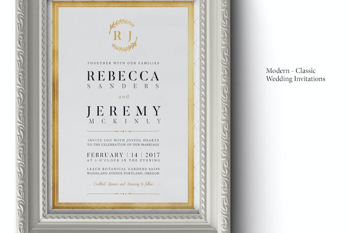 Thumbnail for Modern Classic Wedding Invitations