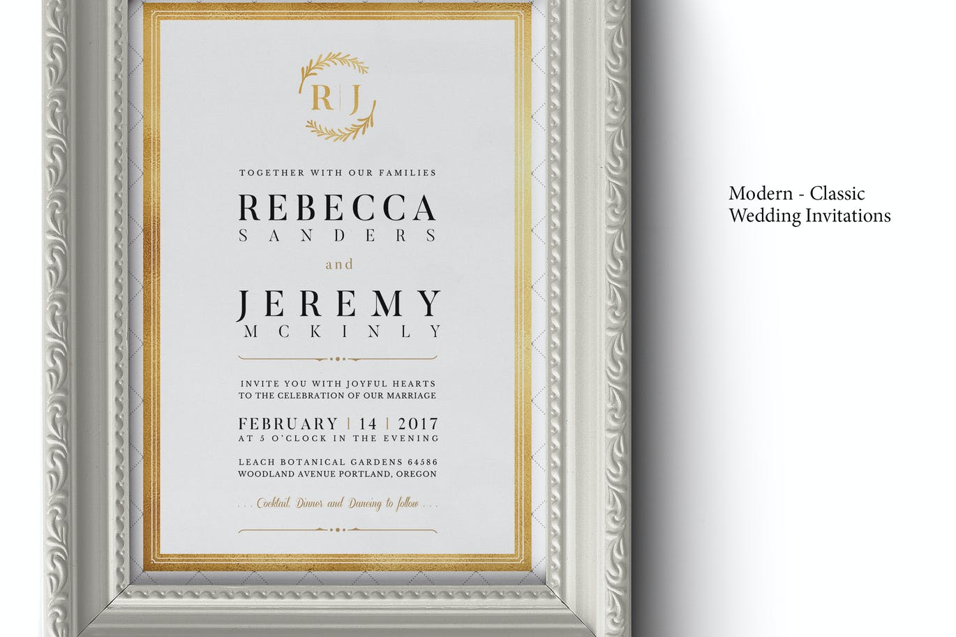 Modern Classic Wedding Invitations by BNIMIT on Envato Elements