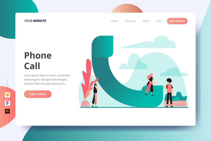 Thumbnail for Phone Call - Landing Page