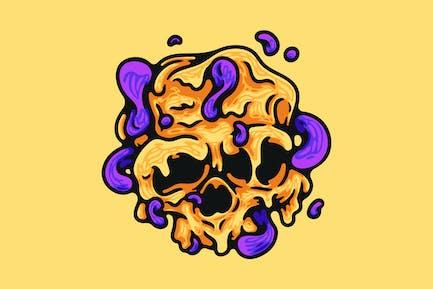 Geschmolzene Schädel