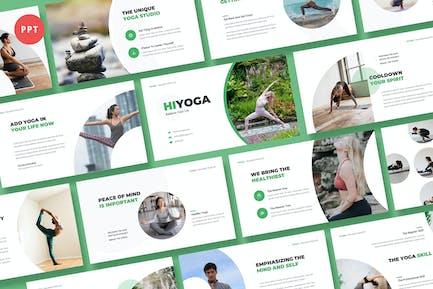 Hiyoga Yoga Class Powerpoint Template