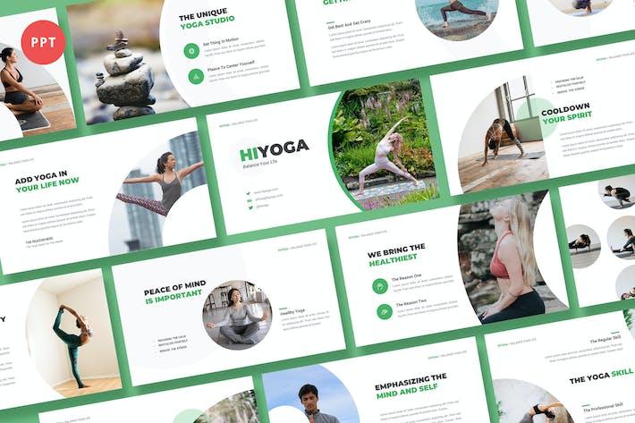Thumbnail for Hiyoga Yoga Class Powerpoint Template