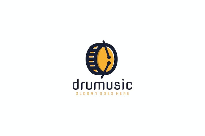 Cover Image For Drum Music Logo