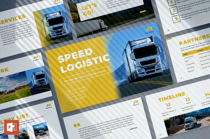 Thumbnail for Trucking Logistics PowerPoint Presentation
