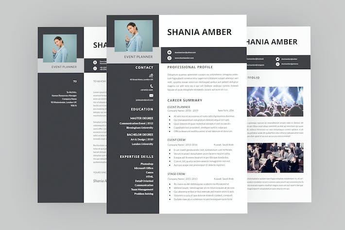 Thumbnail for Shania Event Resume Designer