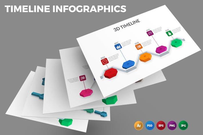 Timeline 3D – Infographics Design