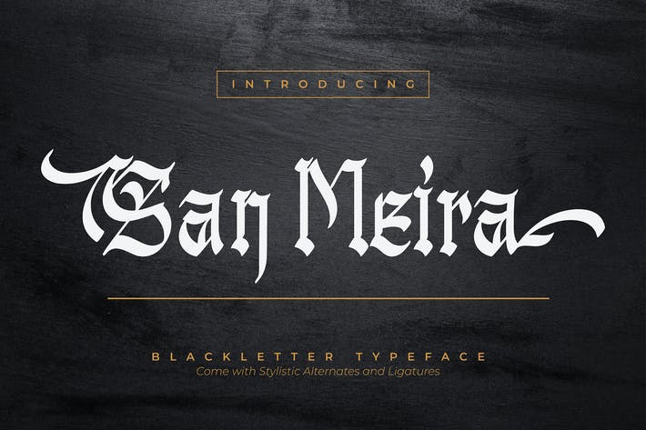 Thumbnail for San Meira | Blackletter Typeface