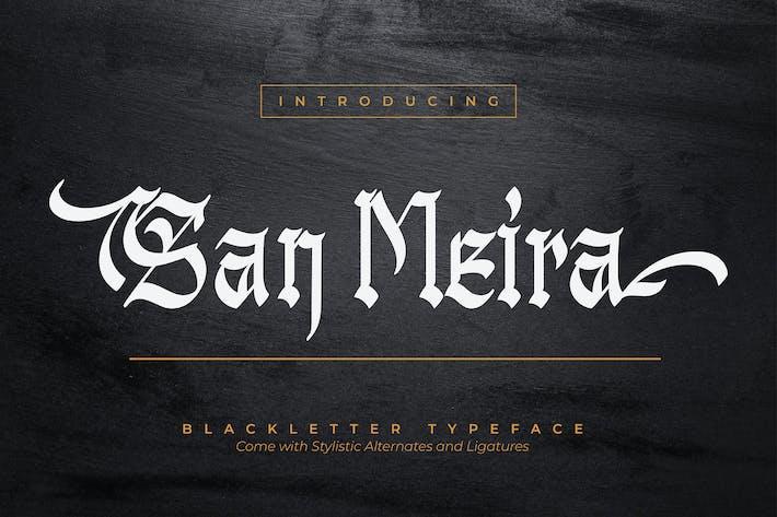 San Meira | Tipo de letra negra