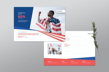 USA Independence Day - Postcard Template V.14