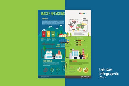 Infographic Chart Elements for Environment & Waste