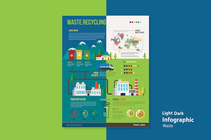 Thumbnail for Infographic Chart Elements for Environment & Waste