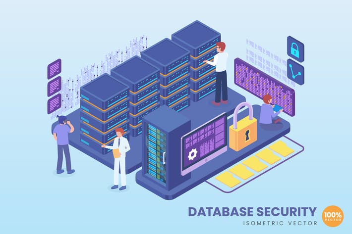 Thumbnail for Isometric Database Security Concept