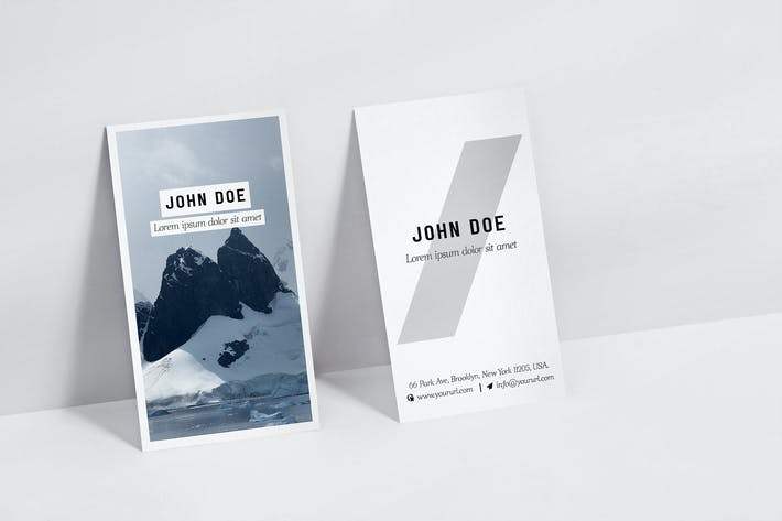 Thumbnail for Vertical Business Card Mock Up