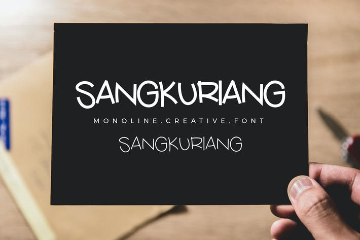 Thumbnail for Sangkuriang Monoline Script