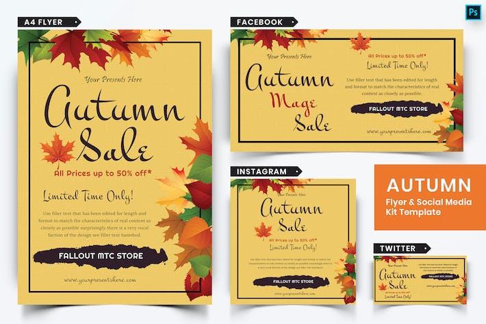 Thumbnail for Autumn Festival Flyer & Social Media Pack-10