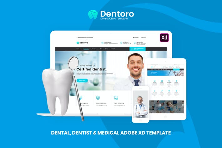 Thumbnail for Dentoro - Dental, Dentist & Medical Template