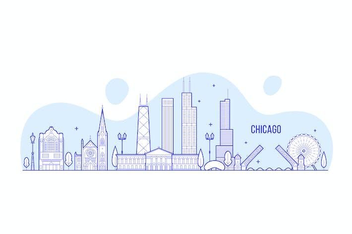 Thumbnail for Chicago skyline, USA