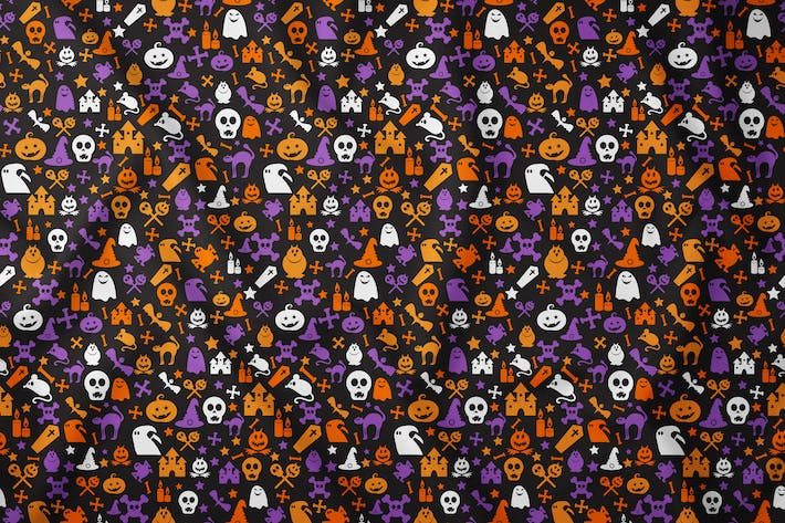 Thumbnail for Bright Halloween Seamless Pattern