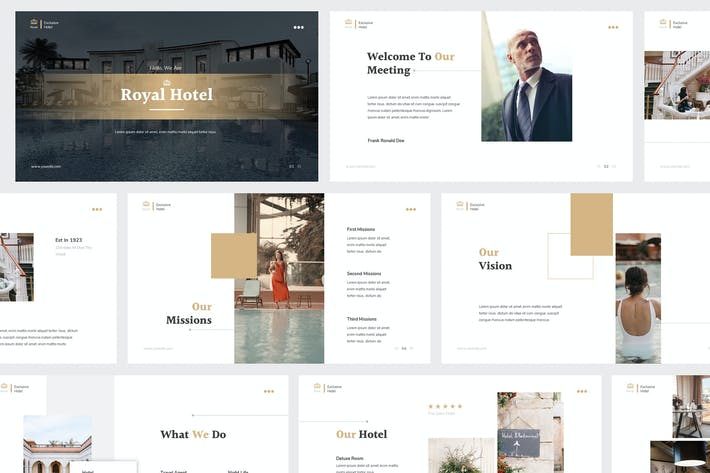 Thumbnail for Hotel Powerpoint Presentation Template