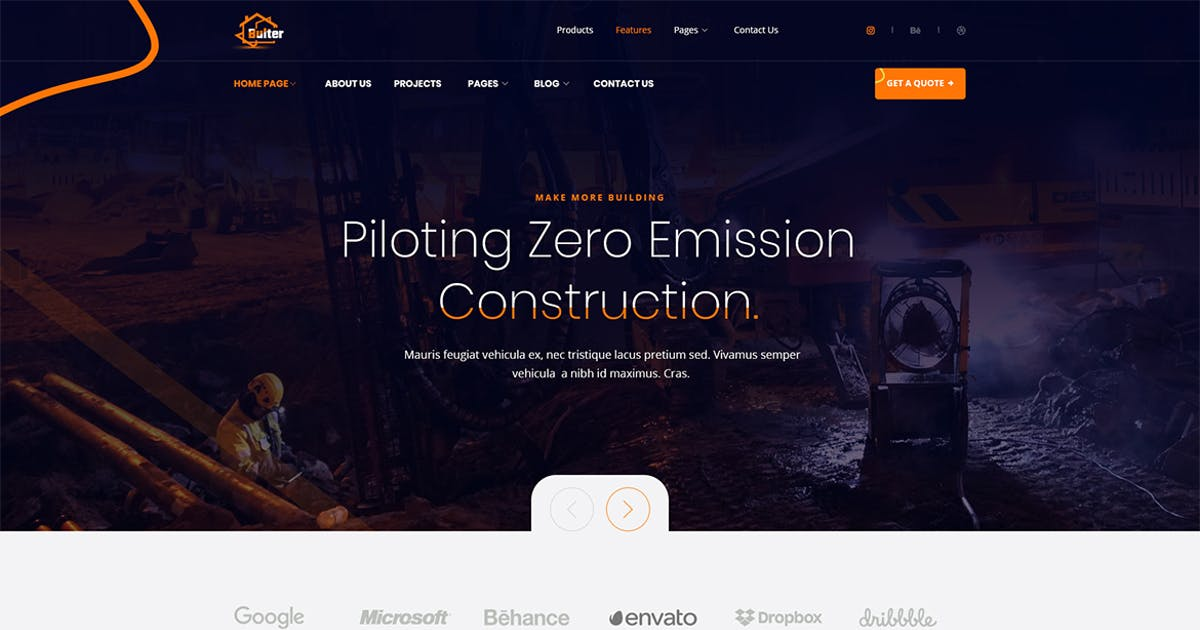 Download Bulter - Clean Construction PSD Template by themesflat