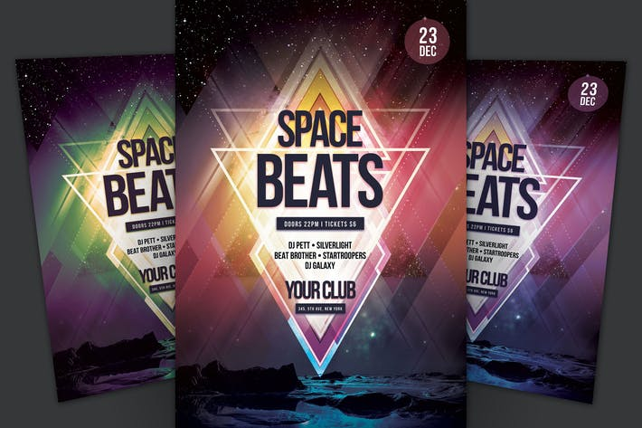 Cover Image For Space Beats Flyer