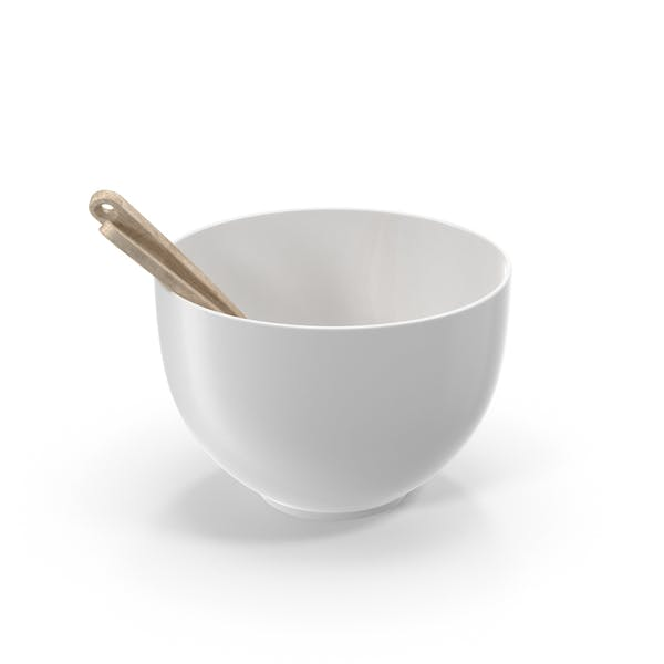 Thumbnail for Ceramic Bowl with Wooden Utensils