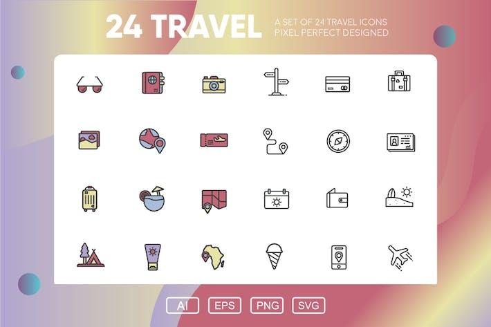 Reise Icon-Paket